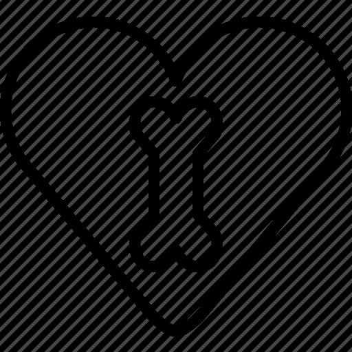 Medical, bone, care, favorite, heart, love icon - Download on Iconfinder