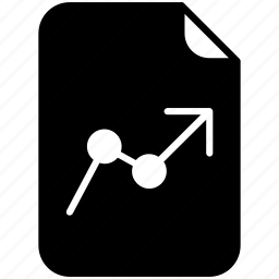 document, file, graph, pc, profit, report, yumminky icon