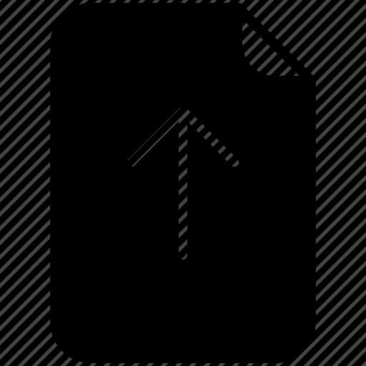 arrow, document, file, pc, up, upload, yumminky icon