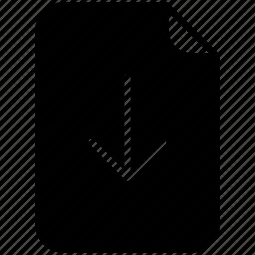 arrow, document, down, download, file, pc, yumminky icon