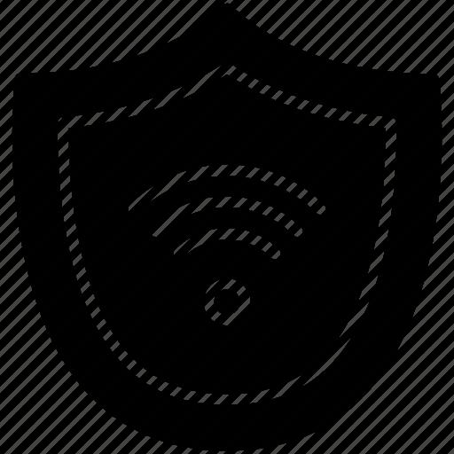 connection, guard, pc, shield, wifi, wireless, yumminky icon
