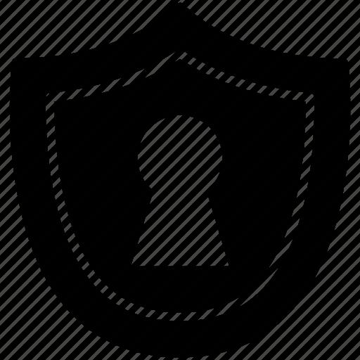 guard, keyhole, lock, password, pc, shield, yumminky icon