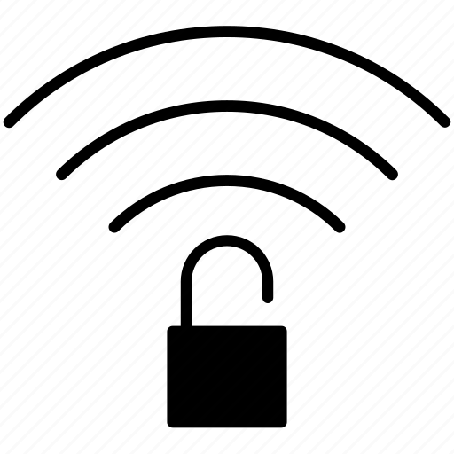 connection, lock, pc, unsafe, wifi, wireless, yumminky icon