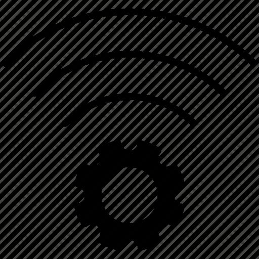 connection, gear, pc, setup, wifi, wireless, yumminky icon