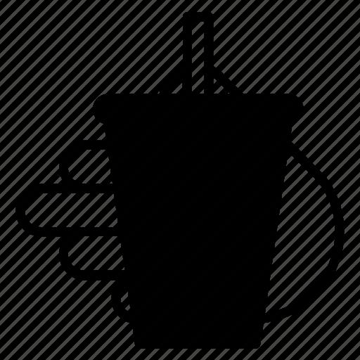 cola, drink, fastfood, hand, lemonade, restaurant, yumminky icon