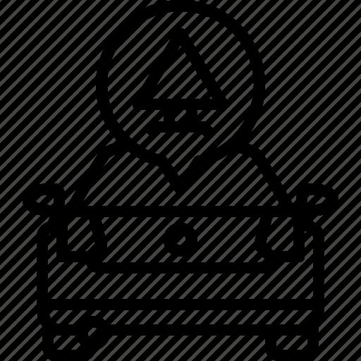 alert, car, life, triangle, volkswagen, warning, yumminky icon