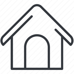 dogs, house, shack, shed, shelter, yummy icon