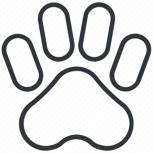 Animal, dog paw, dogs, footprint, hunting, paw, yummy icon - Download on Iconfinder