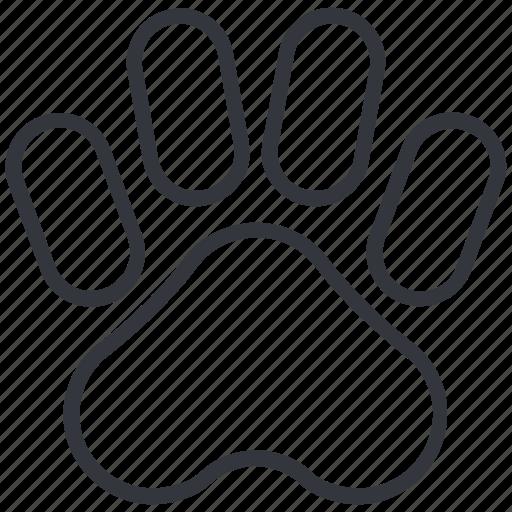 animal, dog paw, dogs, footprint, hunting, paw, yummy icon