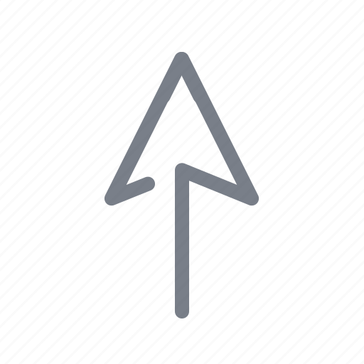 arrow, direction, forward, move, navigation, up, upload icon