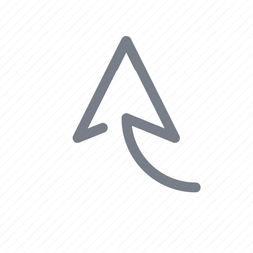 arrow, direction, forward, move, navigation, up icon