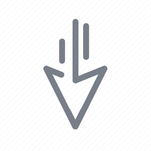 arrow, back, direction, down, navigation icon