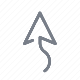 arrow, direction, forward, navigation, up, upload icon