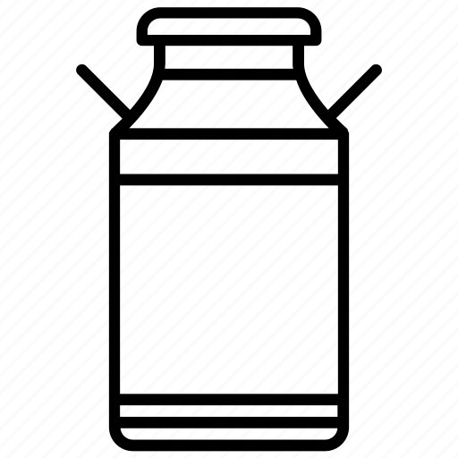 bottle, farm, jar, milk, milk container, yummy icon