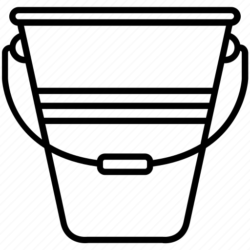 bucket, farm, gardening, pail, yummy icon