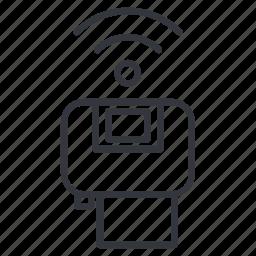 connection, photo, print, printer, signal, wifi, yummy icon