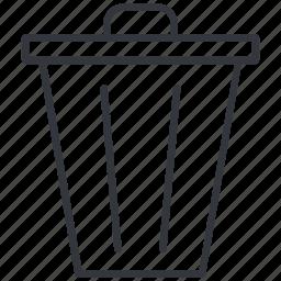 delete, erase, photo, recycle bin, trash, waste, yummy icon