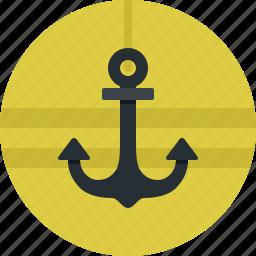 anchor, marine, sea, ship, transport icon