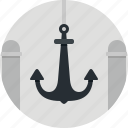anchor, marine, ocean, sea, ship icon