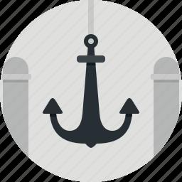 anchor, marine, ocean, sea, ship icon