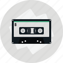 audio, cassette, media, music, play, sound, tape icon