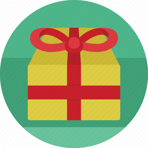 box, christmas, gift, package, winter icon
