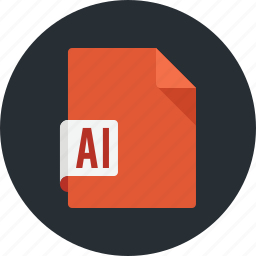 document, extension, file, format, illustrator, paper, sheet icon
