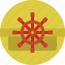 rudder, ship, shipping, transport, transportation icon