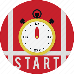 run, stopwatch, time, timer icon
