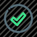 approve, confirm, ok, tick icon