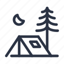 camp, camping, outdoor, outdoors, tent icon