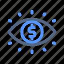 eye, market, opportunity, vision