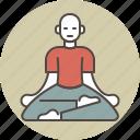 calm, color, man, meditating, relax, sitting, zazen icon