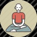 calm, color, man, meditating, zazen icon