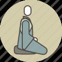 color, meditation, monk, profile, quiet, zazen, zen icon