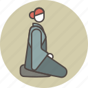 color, nun, profile, zazen icon
