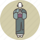 buddha, busshism, color, gassho, monk, reverence, zen icon
