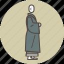 color, kinhin, monk, profile icon