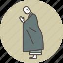 buddhism, color, gassho, monk, profile, revenrece, zen icon