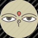 color, compassion, eye, view, vision, wisdom icon