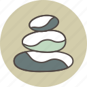 balance, color, stones