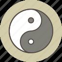 balance, color, energy, female, male, yang, yin icon