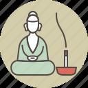 altar, color, meditation, buddha, incense icon