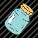 bottle, jar, mason, recyclable, refillable, reusable, spice icon