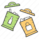 container, garbage, sign, sorting, trash, trashcan, waste icon