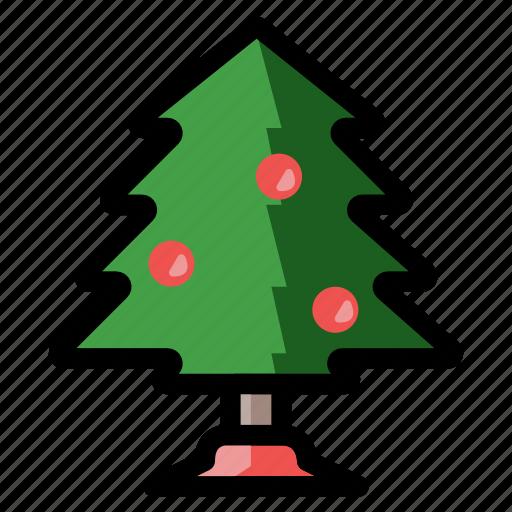 christmas, holiday, ornaments, tree, winter, xmas icon