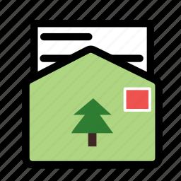 christmas, holiday, letter, santa, winter, xmas icon