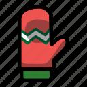 christmas, glove, holiday, mitten, winter, xmas icon