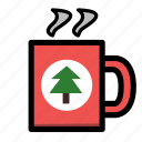 christmas, coffee, holiday, mug, winter, xmas icon