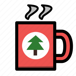 christmas, coffee, holiday, mug, winter, xmas icon